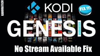 Genesis  No Stream Available    Fix       Tweaks  Hosts Order