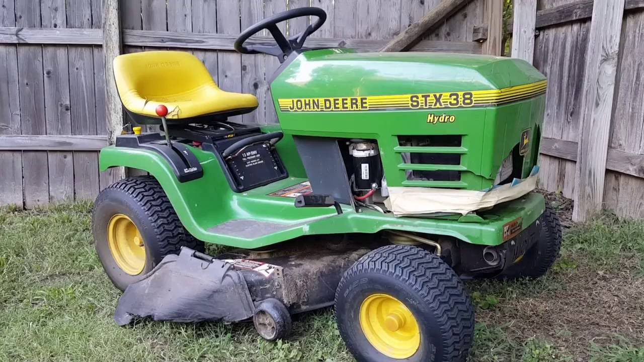 home cable tv wiring diagram 1990 ford alternator john deere stx38 riding mower starter replacement. - youtube