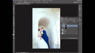 Обработка свадебной фотографии базовыми инструментами