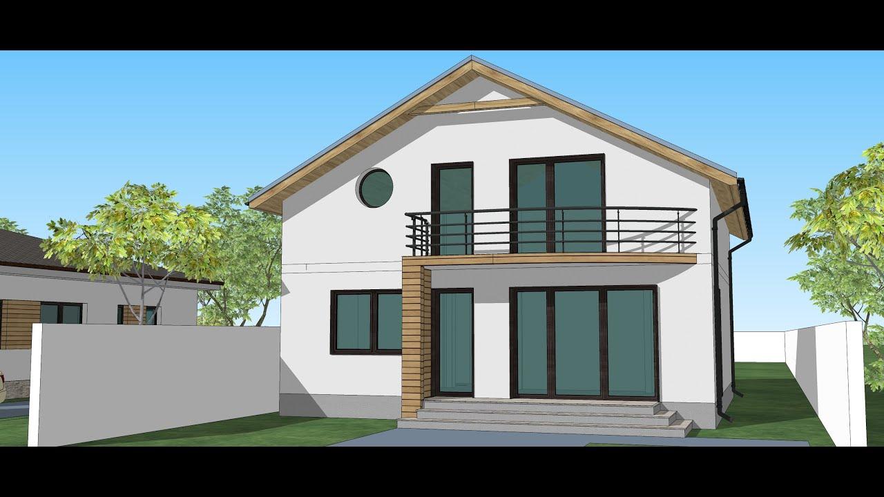 Casa cu mansarda suprafata construita sub 100 mp casa sa02 for Youtube case cu mansarda