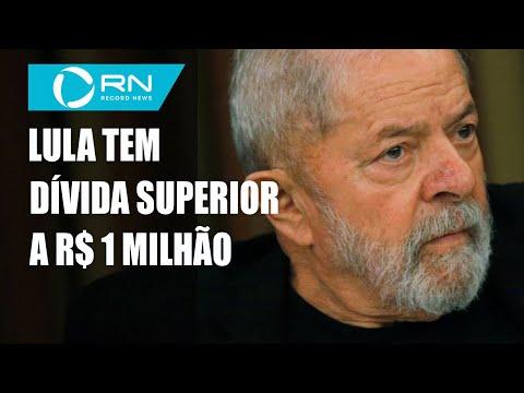 Ex-presidente Lula deve R$ 1,154 milhão para a União