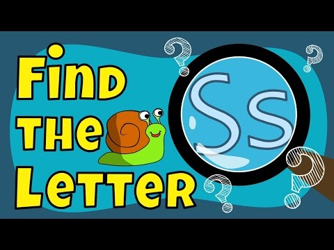 Alphabet Games | Find The Letter S
