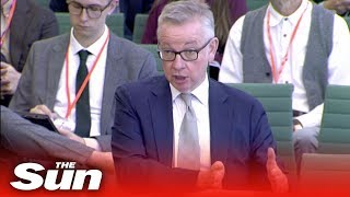 Michael Gove gets a Brexit grilling before Commons select committee