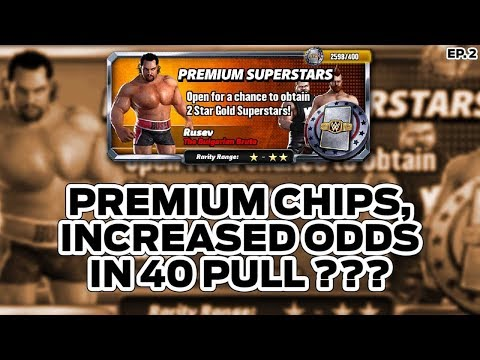 WWE Champions ep 2 Premium Chip, Increased odds in 40 pull???
