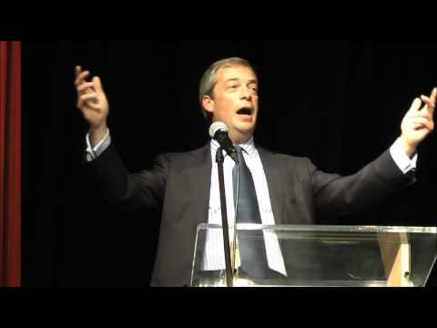 Let's change the face of British politics - Nigel Farage in Dudley