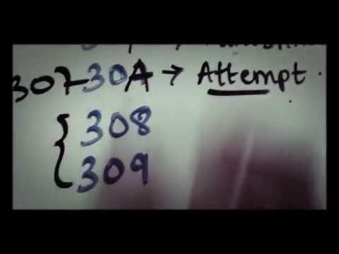 IPC 300, 302, 307, 308, 309 mnemonic