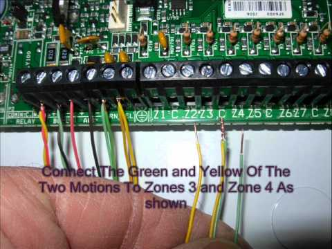 home alarm wiring part 2 wmv youtube rh youtube com alarm panel installing alarm panel installing