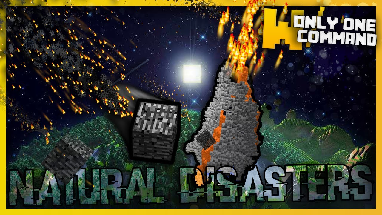 Minecraft Natural Disasters With Only One Command Block Eruptions