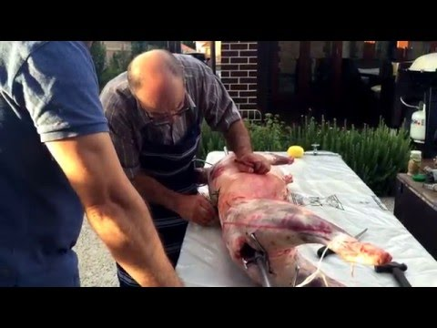 How to cook a lamb spit - Greek Style - Pt 1