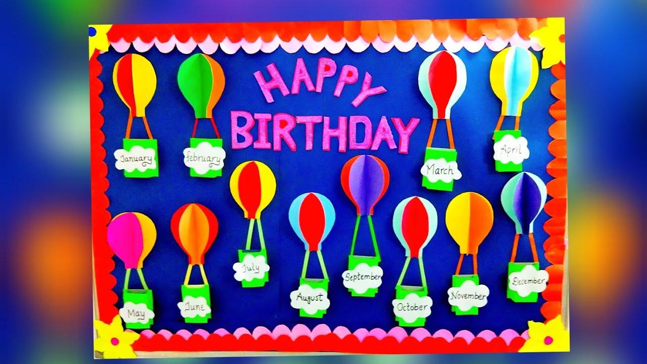 Birthday Bulletin Board Ideas For Class Rooms Birthday Bulletin Board Youtube