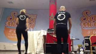 ataca y la alemana bachata workshop with music rabat salsa meeting 2016