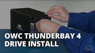 How to Install Hard Drives or SSDs in the OWC ThunderBay 4