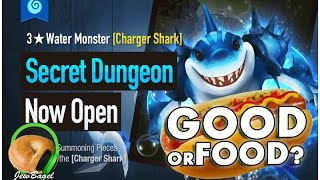 SUMMONERS WAR : Aqcus the Water Charger Shark Secret Dungeon - Good or Food?