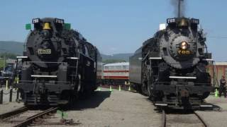 759 and 765 Side by Side: Nickel Plate Berkshires Then and Now