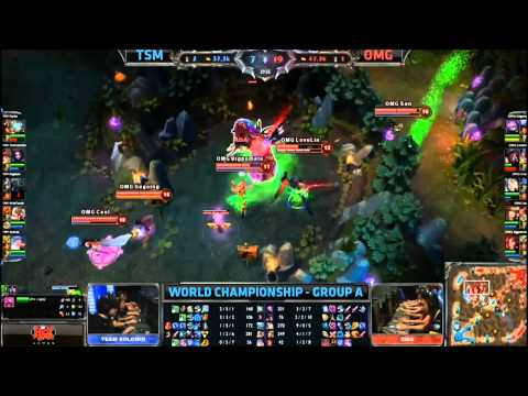 League of Legends World Championships - TheOddOne Baron steal
