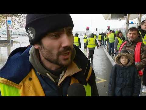 """""""Gilets jaunes"""" à Saint-Nazaire : manifestation commune avec la CGT"""
