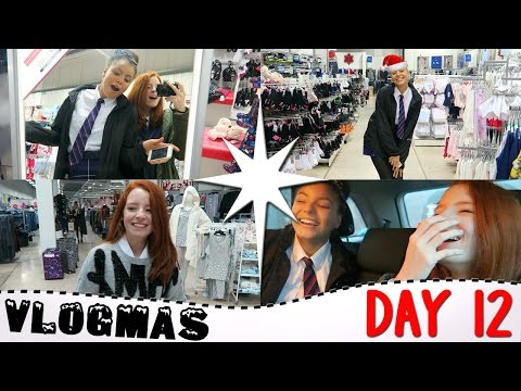 Vlogmas Day 12 2016, Cheat's Christmas Tree, Shopping In Matalan For Christmas Jumpers | NiliPOD