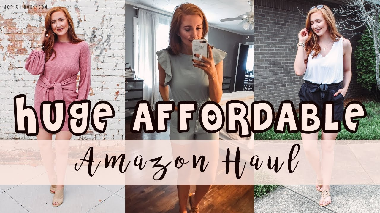 ca872c9b0e ANOTHER HUGE AFFORDABLE AMAZON CLOTHING HAUL! | Moriah Robinson ...