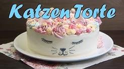 KATZEN TORTE BACKEN | Geburtstagstorte selber machen [ohne Fondant] Buttercremetorte Rezept