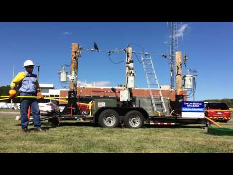 PPL Electric Utilities 'live line' safety demonstration