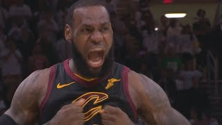 LeBron Back to Back 3s Forces Game 7 46 Points! 2018 NBA Playoffs