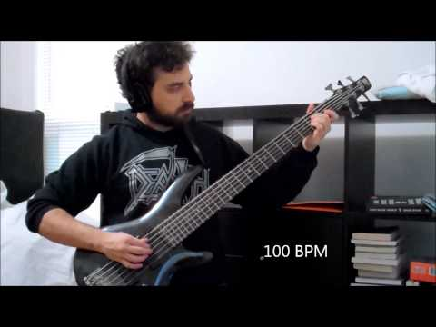 Bass Guitar Right Hand Speed Galloping Exercise 3 Fingers 80 - 240 BPM