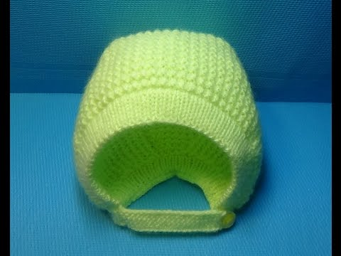 Вязание спицами для новорожденных шапочки для начинающих видео уроки