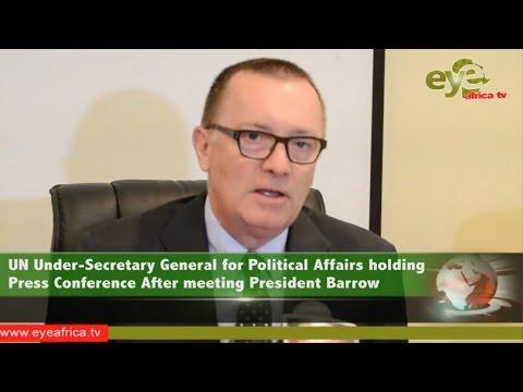 Press Conference of United Nations Under Secretary General for Political Affairs Mr  Jeffrey Feltman