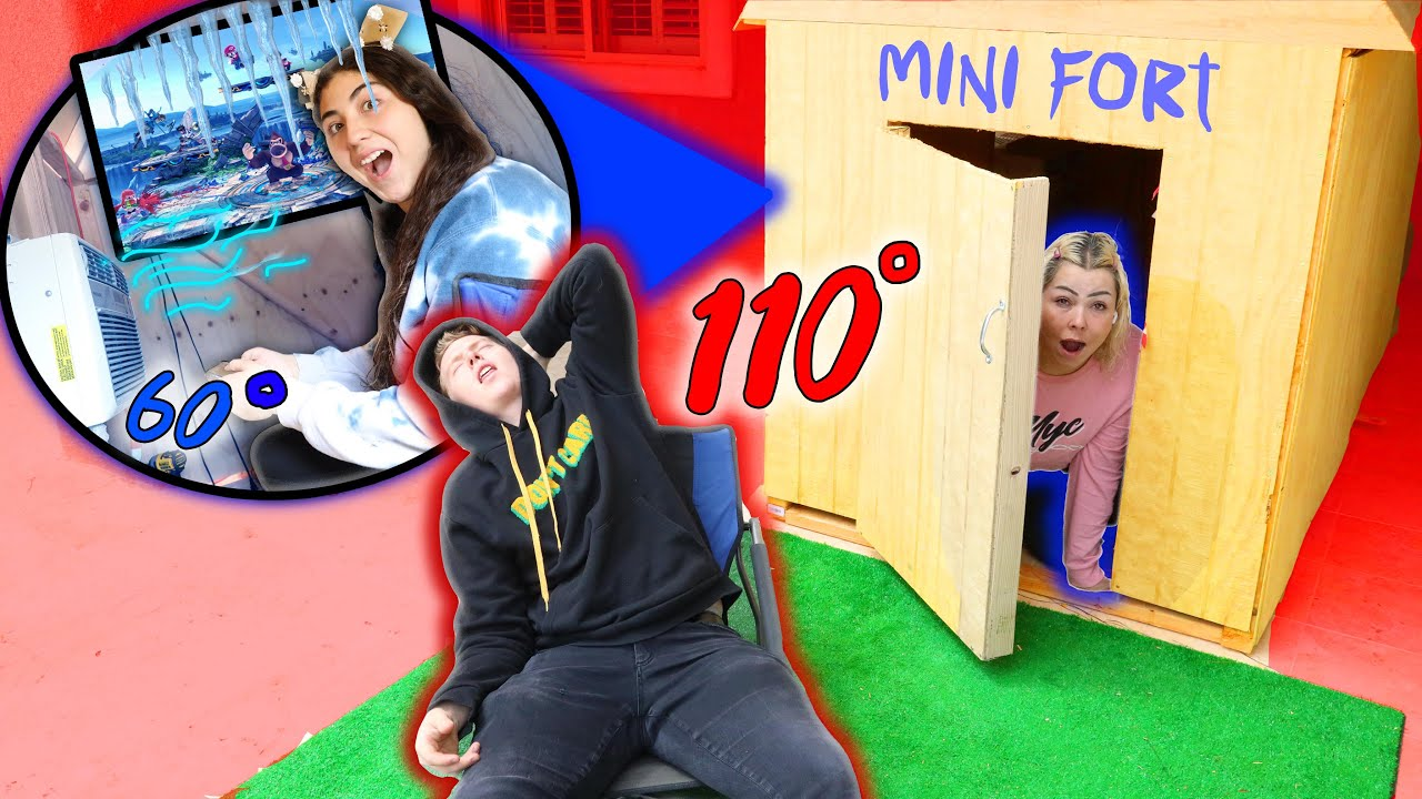 LAST TO LEAVE THE MINI FORT WINS CHALLENGE!