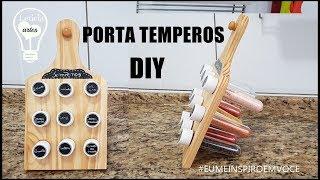 DIY PORTA TEMPEROS #MEINSPIROEMVOCE LETICIA ARTES