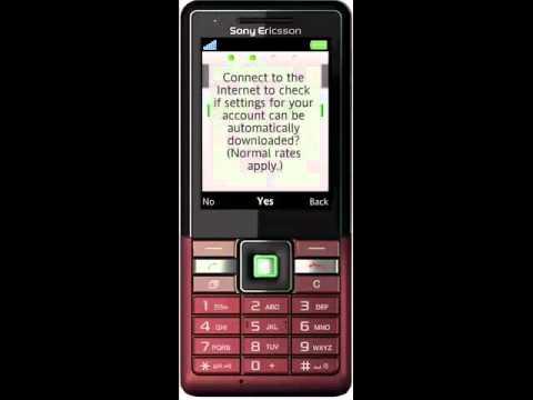 Sony Ericsson Naite push email.wmv
