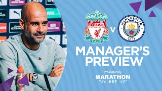 PRESS CONFERENCE | Pep Guardiola | Liverpool v Man City