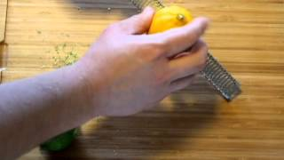 How to use Microplane style zester grater.