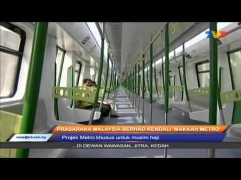 Buletin Utama TV3: Prasarana Malaysia Berhad Kendali Makkah Metro