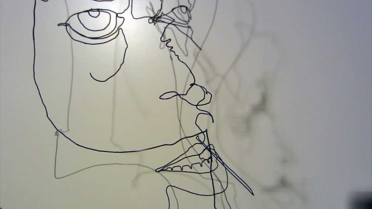 Wire Sculpture for in your home - YouTube