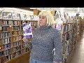"Janet Kuypers reads her ""Part of my Pain"" poems @ her Half Price Books feature reading 11/1/17 (S)."