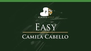 Camila Cabello - Easy - LOWER Key (Piano Karaoke Instrumental)