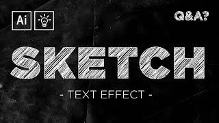Sketch / Scribble Text Effect | Adobe Illustrator Quick Tips & Tricks #5