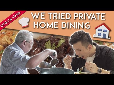 PRIVATE HOME DINING: Peranakan Fodd In A Stranger's Home   Eatbook Vlogs   EP 75