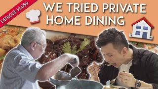 Peranakan Food In A Stranger's Home - Private Home Dining   Eatbook Vlogs   EP 47