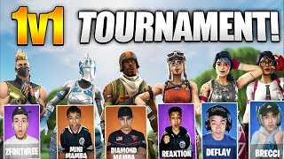 Fortnite Intense 1v1 Tournament Against Brothers And Friends! Best 1v1 Build Fights!