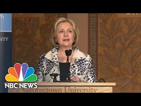 Hillary Clinton: Trump Has Turned Diplomacy Into 'A Cheap Extortion Racket' | NBC News