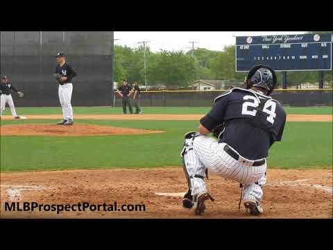 Sonny Gray warming up with Gary Sanchez - New York Yankees (2018)