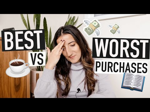 BEST AND WORST PURCHASES of my 20s (so far) 💸 money lessons I've learned