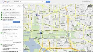Saving directions in Google Maps Free HD Video