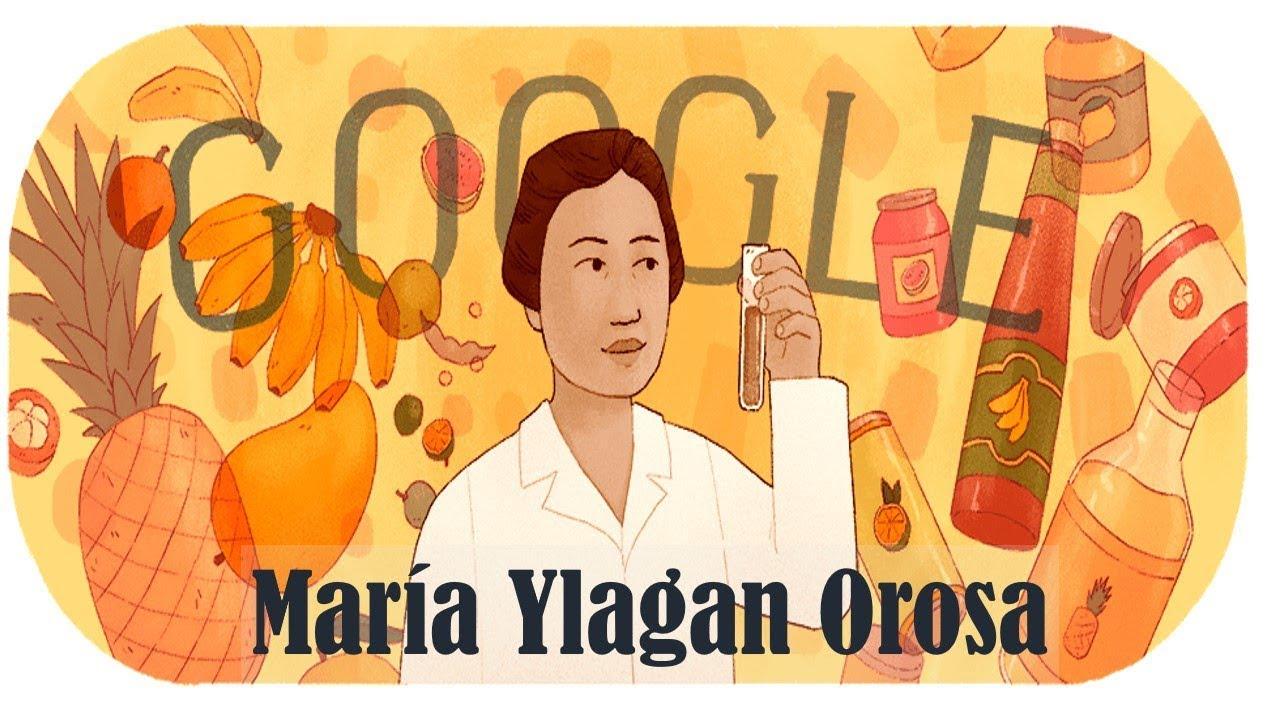 María Ylagan Orosa Google Doodle honors to food scientist   GSE ...