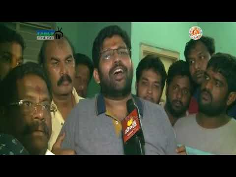 E.Godavari :YSRCP Leaders protest on Illegal arrest of Youth Wing President Jakampudi Raja