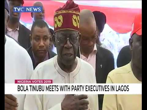#NigeriaVotes2019  | Bola Tinubu meets with party executives in Lagos