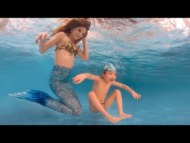 Special Needs Children Mermaid Pool shoot w/ Carla Durante in Brazil