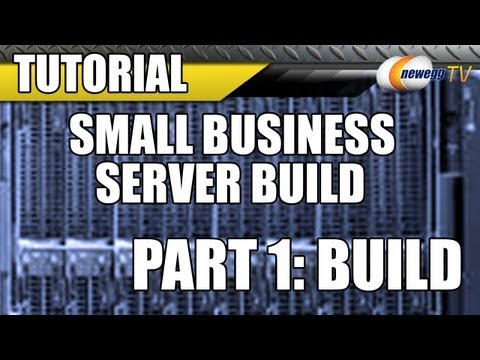 Newegg Tv Small Business Server Build With Intel Microsoft Part 1 Build Youtube
